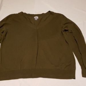 Plus size 1x green Worthington sweater